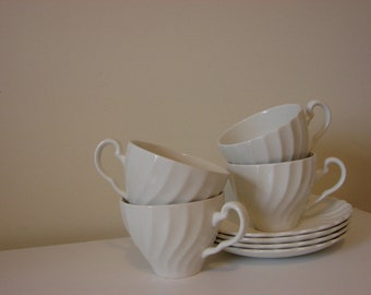 Antique Vintage English Ironstone Teacups and Saucers // Made In England // Ironstone // English Teacup