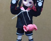 Black Candy Cat outfit set for YoSD
