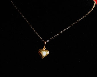 Gold Heart necklace, 14K gold necklace. heart pendant, Celebrity necklace,