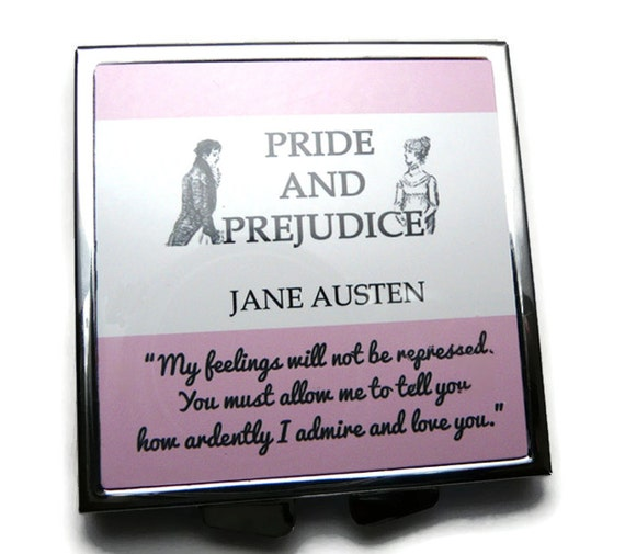 Mr Pink Quotes: Jane Austen Compact Mirror Pride & Prejudice Mr By Missbohemia