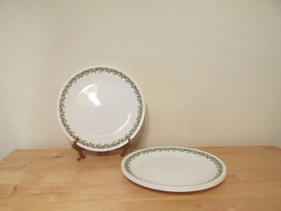 Vintage Set of 4 Corelle Spring Blossom Dinner Plates