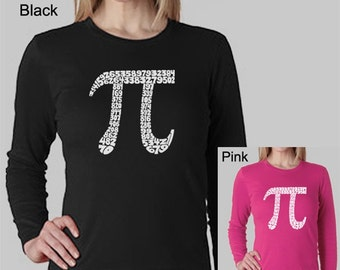Women's Long Sleeve Shirt - Created using The First 100 Digits of Pi