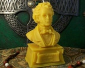 Franz Schubert Bust Beeswax Candle Composer Series