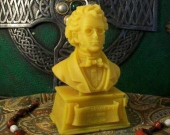 Franz Schubert Bust Beeswax Candle Composer Series