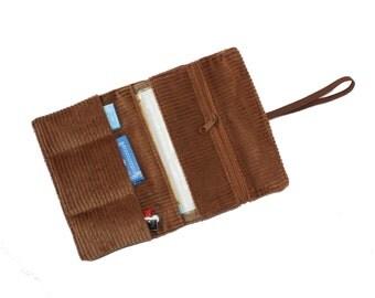 Tobacco pouch smoke pouch golden brown