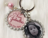 Fairy Godmother, My Fairy Godmother, Personalized, Godmother Keychain with photo