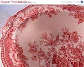Crown Ducal Staffordshire Transferware Bristol Pink