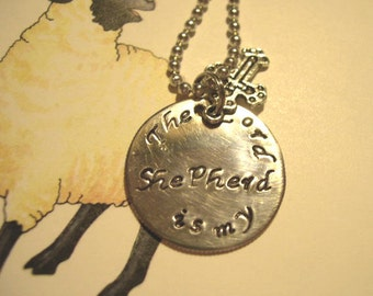 Hand Stamped Metal Necklace, Stamped Necklace - N49