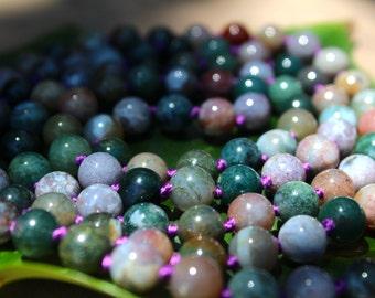 Fancy Jasper - Knotted Mala Beads -  Yoga Prayer Beads - Mantra Meditation Stones
