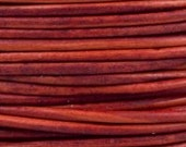 3 Yards - 1.5 mm Leather Cord - #405 Red - 9 feet