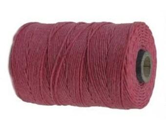 10 Yards - Fuchsia - Irish Waxed Linen