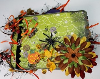 Halloween Mini Album, Halloween Scrapbook, Readymade Scrapbook Album, Memory Book