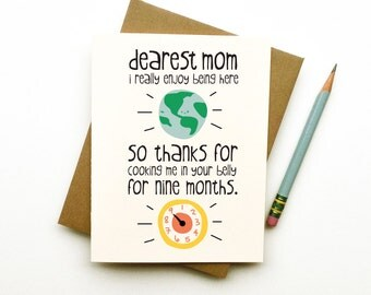 home is where my mom is card mothers day birthday funny cute, Birthday card