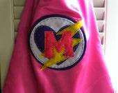 Girls Lighting Bolt Superhero Cape/Reversible/Customize