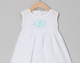 Monogram Linen Beach Dress
