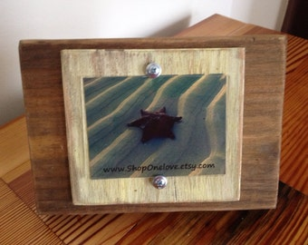 3 x 4 Wood Picture Frame with light Yellow