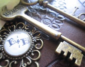 Leather Vintage Styled Wedding Guest Book Customize Steampunk Photo Booth