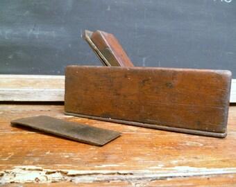 Antique Carpenters Plane French carpentry Tool with extra blade Decorators Piece