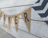Chevron Burlap Name Banner / Nursery Decor