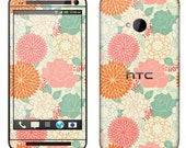 HTC One Case Decal Skin Cover - Summer Floral Pattern