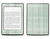 Amazon Kindle Paperwhite Skin Cover - Mint fabric Pattern  - Kindle Cover, Kindle Paperwhite Cover