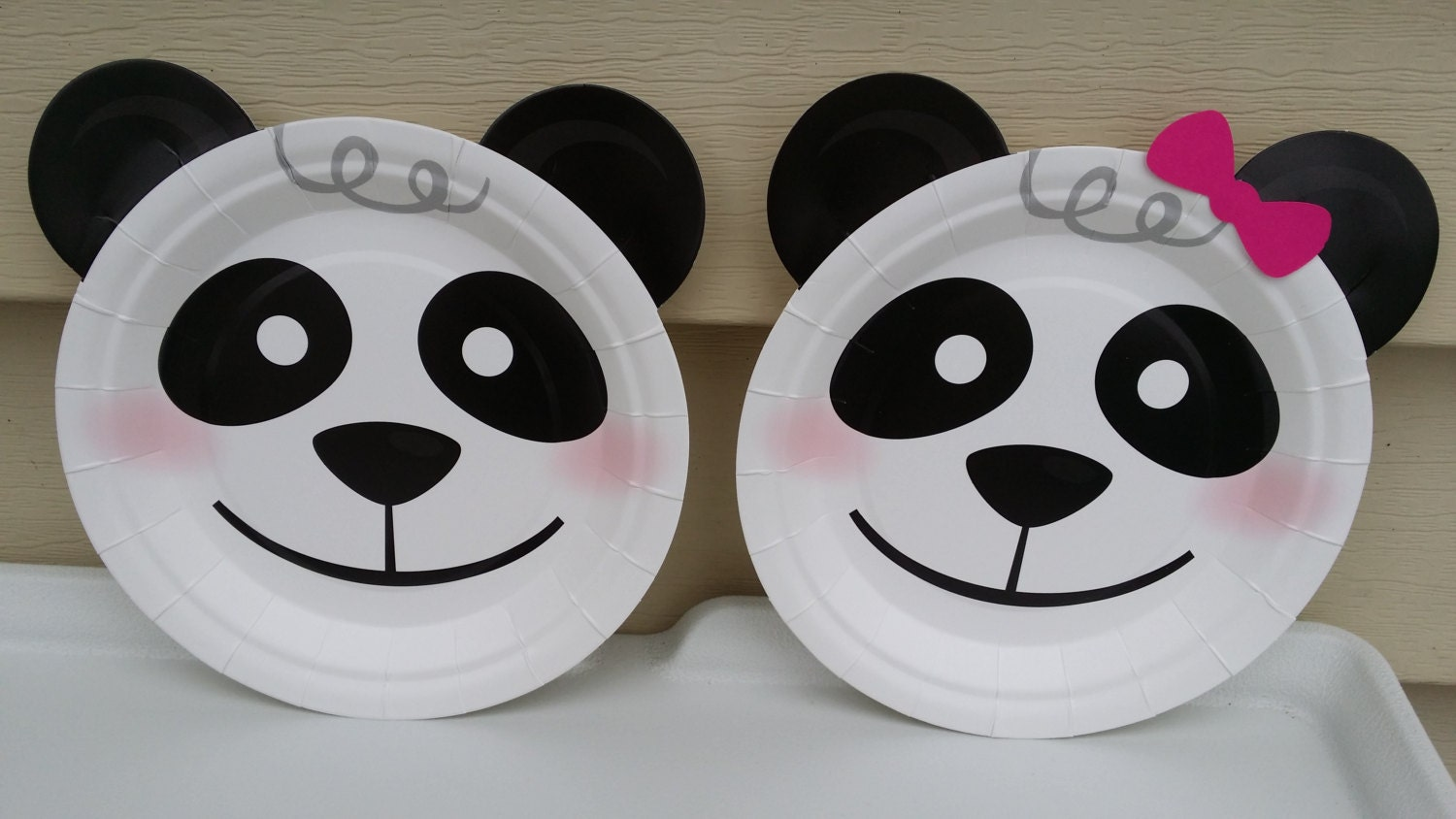 20 panda dessert plates party decoration for Panda bear decor