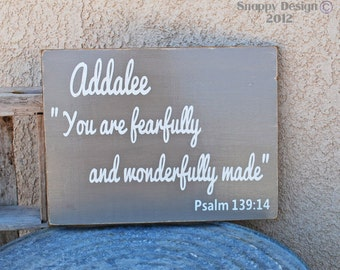 Personalize - You are fearfully and wonderfully made - Nursery