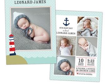 Birth announcement template -  Ocean  - E900