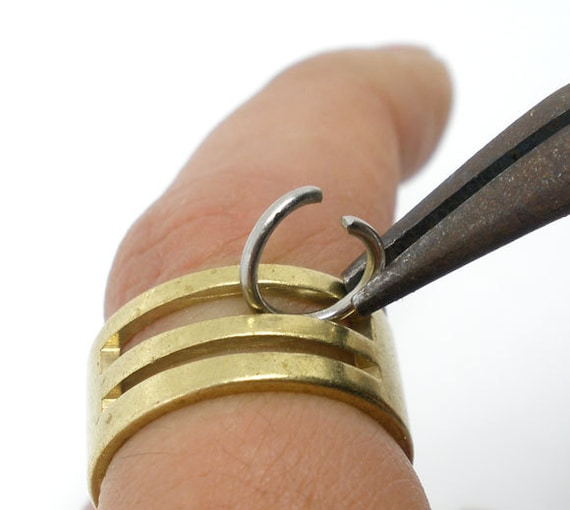 1 - Jump Ring Opening Jewelry Tool, Solid Brass, Jump Rings, Tools,   m008-3
