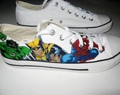 Handpainted Superhero Shoes *Reduced Price!*
