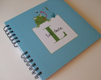 Baby Book |  Baby Memory Album | Frog Wire Bound Baby Memory Book