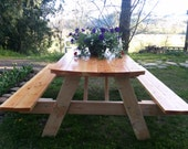 Picnic Table with Folding Benches