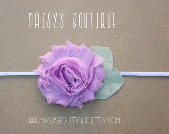 Discounted Lavender pink flower headband