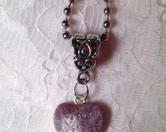 Natural Stone Pendant on Ball Chain