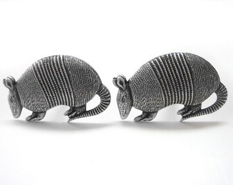 Silver Toned Armadillo Cufflinks