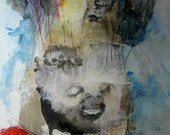 """Original contemporary Mixed Media Painting- """"Bewitched"""""""