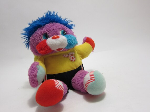 Vintage Big Kick Popples Pink 80s Plush Toy  Fold up Soccerball Soccer ball