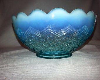 Blue Jefferson Glass Company Many Loops Bowl