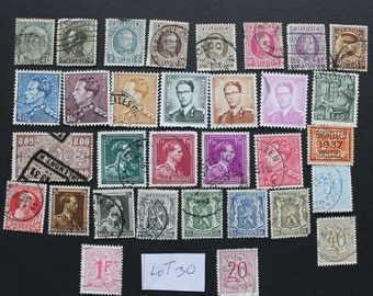25 Vintage Stamps from Belgium (lot 42)