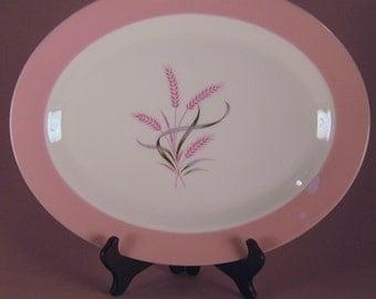 Homer Laughlin Pink Vintage China Platter, Pink Radiance, Made in USA