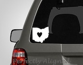 Ohio with Heart Home State Vinyl Decal