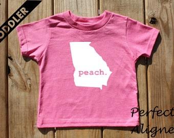 Georgia Home State PEACH Unisex Toddler T-shirt - Baby Boys or Girls