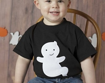 Ghost Appliqué Halloween T Shirt - Youth and Teen Sizes XS to XL size 4 to 20