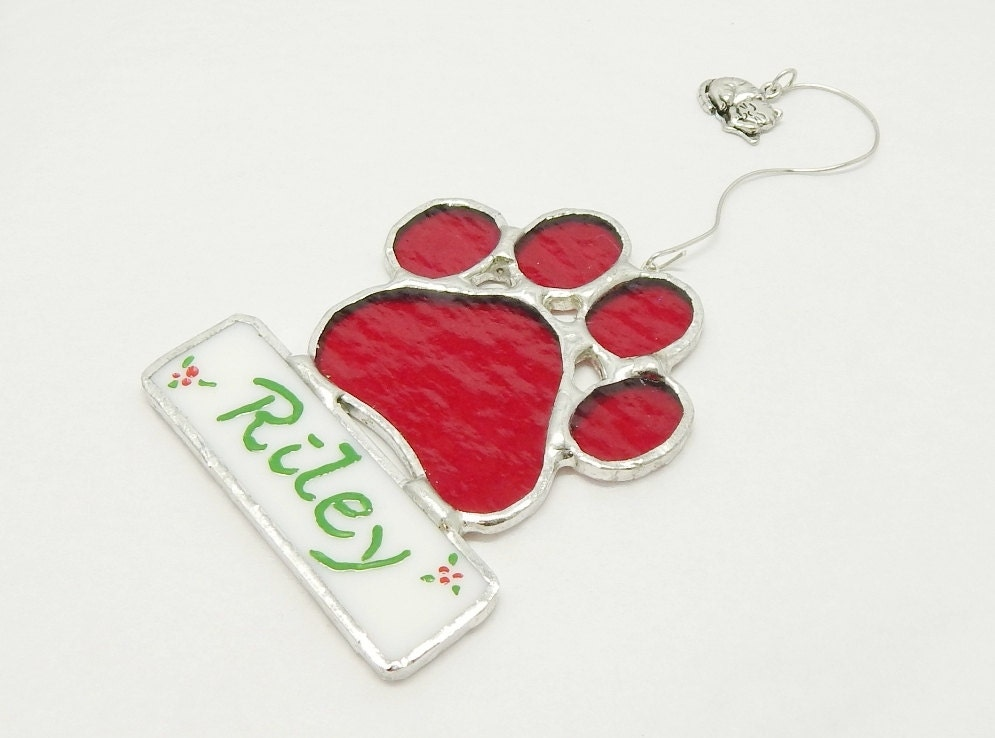 Cat Christmas Ornament Personalized Paw by ...