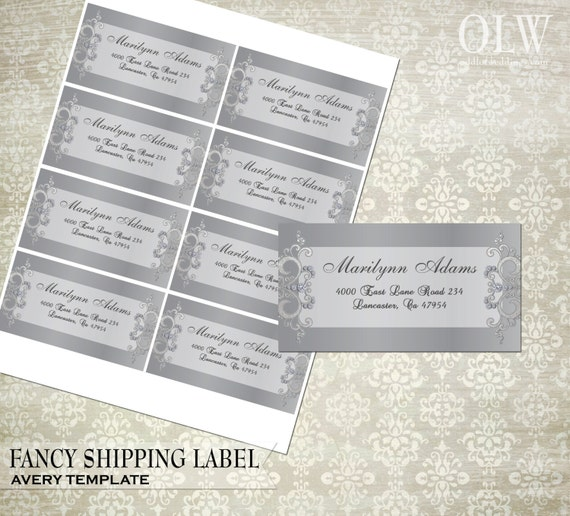 Fancy Gray Shipping Labels Diy Avery Labels For Printing