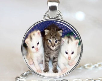 Three Kittens  Pendant  Jewelry Necklace Pendant (PD0021)