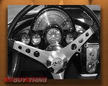 Boyfriend Gift, Corvette Car Art Photography, Black and White, Car Print, Automobile Art, Automotive Print, Chevy, 5x7, 8x10, 11x14, 16x20