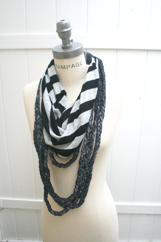 t shirt necklaces scarf unique scarves black white