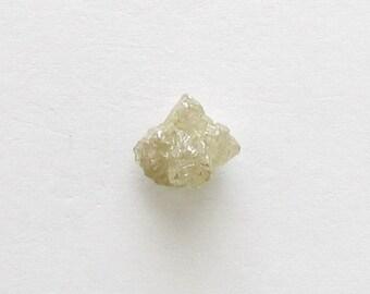 Natural Rough Whiteness Light Yellow Diamond, Unheated, Uncut, 1.69 carat