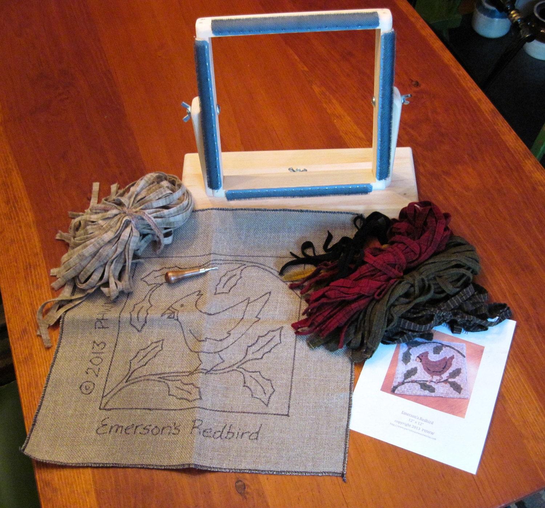 Complete Beginner Rug Hooking Kit 12 X 12 Frame